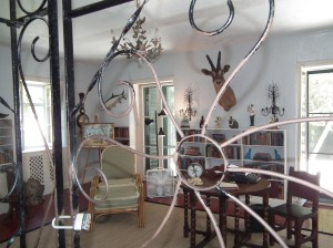 This is supposedly how Hemingway's studio was, down to his Royal typewriter. I find it hard to believe he would leave it behind. I can't imagine being without my computer. Would Papa let go of his typewriter? Inquiring minds want to know.