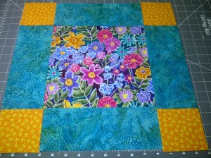 This is the basic block of nine pieces, unsewn.