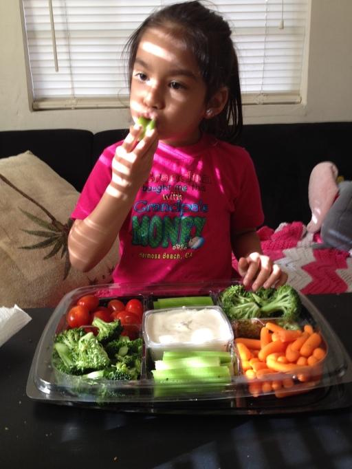 Her favorite snack.