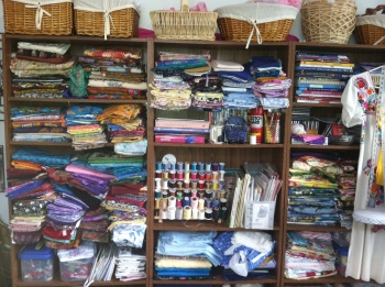 My fabric stash, or rather part of it.