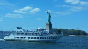 A sister yacht while on jazz cruise down the Hudson.
